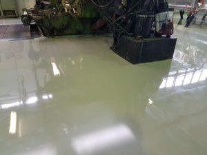 Teollisuuden toimitoissa lattiapinnoitus