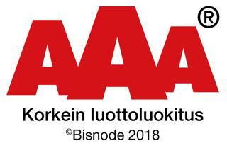 AAA-logo-2018-FI-Bisnode-korkein luottoluokitus